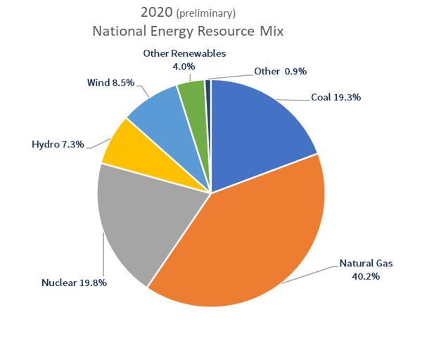 2020 National Energy Resource Mix